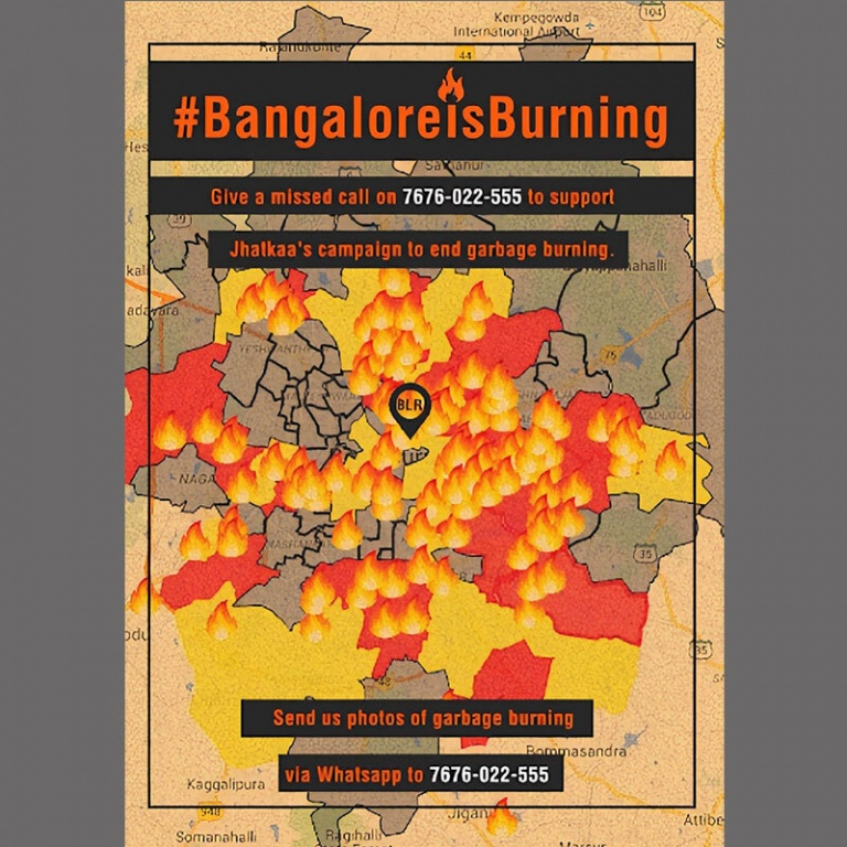 The map showcased the extent and the intensity of the issue in Bangalore that caught the attention of the BBMP and the media.